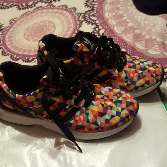 official photos a5a2b d5bfb Adidas ZX Flux Torsion Rainbow Prism sz 6W